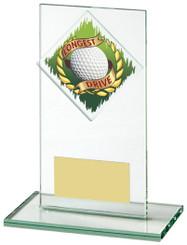 "Jade Glass Longest Drive Golf Award - TW18-156-460ZAP - 14cm (5 1/2"")"