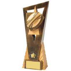 Antique Gold Rugby Ball Edge Award - 23.5cm
