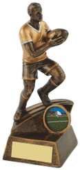 "Gold Mens Rugby Figure Trophy - 16cm (6 1/4"")"