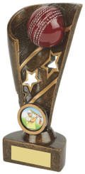 "Gold Cricket Award - Ball and Stars - 17.5cm (7"")"