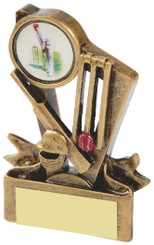 "Gold Cricket Resin Trophy - 9cm (3 3/4"")"