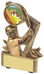 "Gold Resin Cricket Batsman Award - 9cm (3 3/4"")"