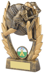 "Gold Male Cricket Resin Award - 16cm (6 1/4"")"