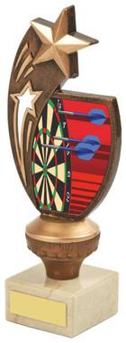 "Antique Gold Darts Star Award - 18.5cm (7 1/4"")"