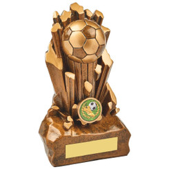"Break Out Antique Gold Resin Football Award - 18cm (7"")"