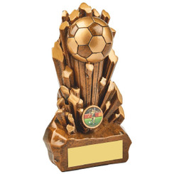 "Break Out Antique Gold Resin Football Award - 21cm (8 1/4"")"
