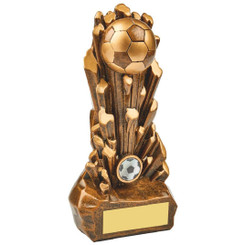 "Break Out Antique Gold Resin Football Award - 25cm (10"")"