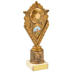 Antique Gold Star Football Holder Award - 21.5cm