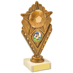 Antique Gold Star Football Holder Award - 17.5cm