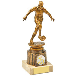 Antique Gold Kicking Female Footballer Award - 18.5cm