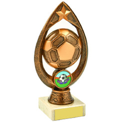 Antique Gold Marble Football Tear Trophy - 17cm