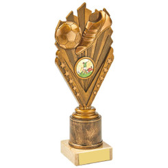 Antique Gold Boot/Ball Holder Trophy - 21.5cm