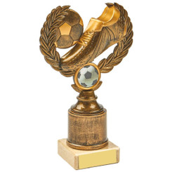 Antique Gold Boot/Ball Wreath Award - 18cm
