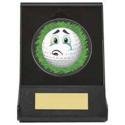 Black Case Golf Collectable - Sad - Dia 60mm
