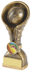 "Gold Cricket Resin Tower Trophy - 14cm (5 1/2"")"