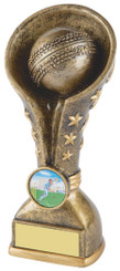 "Gold Cricket Resin Tower Trophy - 16cm (6 1/4"")"