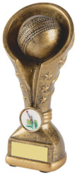 "Gold Cricket Resin Tower Trophy - 18cm (7"")"