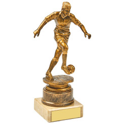 Antique Gold Kicking Female Footballer Award - 16.5cm