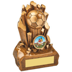 "Break Out Antique Gold Resin Football Award - 14cm (5 1/2"")"