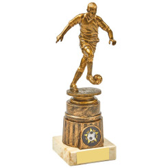 Antique Gold Kicking Male Footballer Award - 20cm