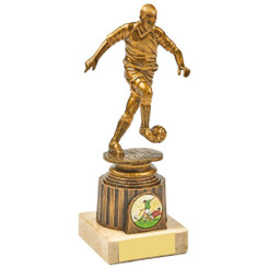 Antique Gold Kicking Male Footballer Award - 18.5cm