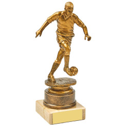 Antique Gold Kicking Male Footballer Award - 16.5cm
