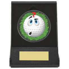 Black Case Golf Collectable - Confused - Dia 60mm