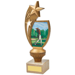 "Colour Male Golf Star Holder Award - 21cm (8 1/4"")"