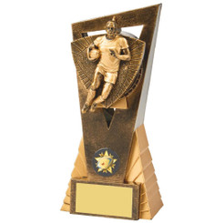 Antique Gold Male Rugby Player Edge Award - 18cm