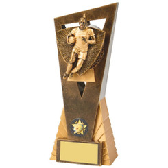 Antique Gold Male Rugby Player Edge Award - 21cm