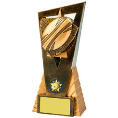 Antique Gold Rugby Ball Edge Award - 16.5cm