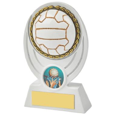 """White Netball Ball Resin Award - 13cm (5"""")"""