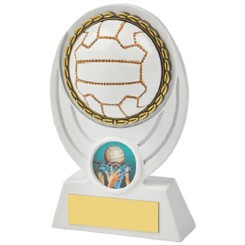 "White Netball Ball Resin Award - 13cm (5"")"