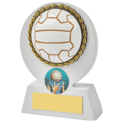 "White Netball Ball Resin Award - 11cm (4 1/4"")"