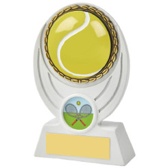 White Tennis Ball Resin Award - 13cm