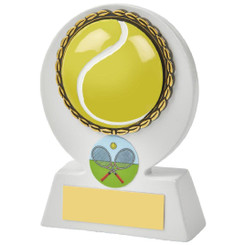 White Tennis Ball Resin Award - 11cm
