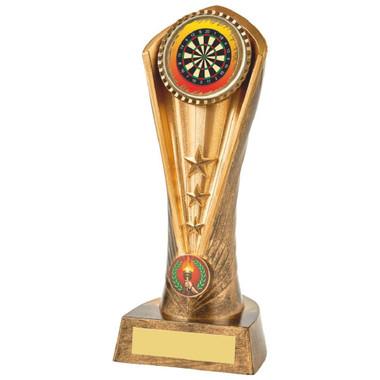 Antique Gold Darts Cobra Trophy - 21cm