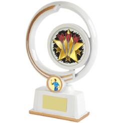 White/Gold Circular Darts Resin - 22cm