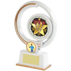 White/Gold Circular Darts Resin - 19cm