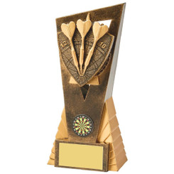 Antique Gold Darts Edge Award - 18cm