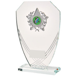 "Curved Hexagonal Glass Trim Award - 21.5cm (8 1/2"")"