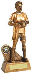 "Antique Gold Standing Footballer - 23cm (9"")"