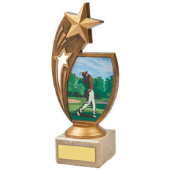 "Colour Male Golf Star Holder Award - 18.5cm (7 1/4"")"