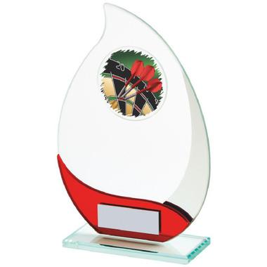 Jade/Red Glass Darts Award - 17cm