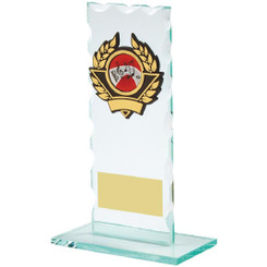 "Jade Glass Upright Award - 16.5cm (6 1/2"")"