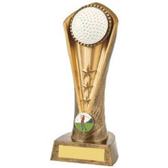 "Antique Gold Golf Ball Cobra Trophy - 21cm (8 1/4"")"