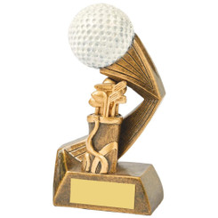 "Antique Gold/White Golf Ball Action Award - 13.5cm (5 1/2"")"