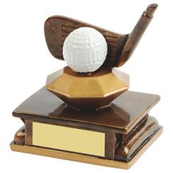 "Gold Resin Golf Wedge Award - 11cm (4 1/4"")"
