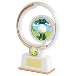 "White Resin Men's Golf Award - 22cm (8 3/4"")"