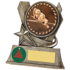 Gun Metal Snooker/Pool Player Resin - 10cm